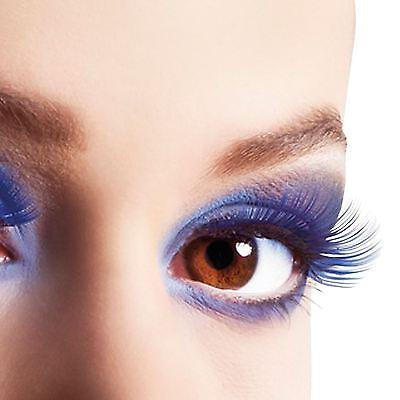 Erwachsene Falsche Wimpern Blau Fake Makeup Drag Kostüm Zubehör Rave Party