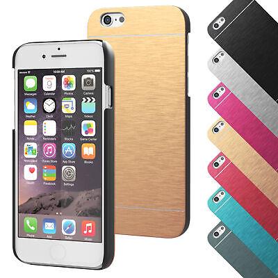 Schutzhülle für Apple iPhone Backcover Hard Cover Metall Case Handy Glanz Hülle Chrome Apple