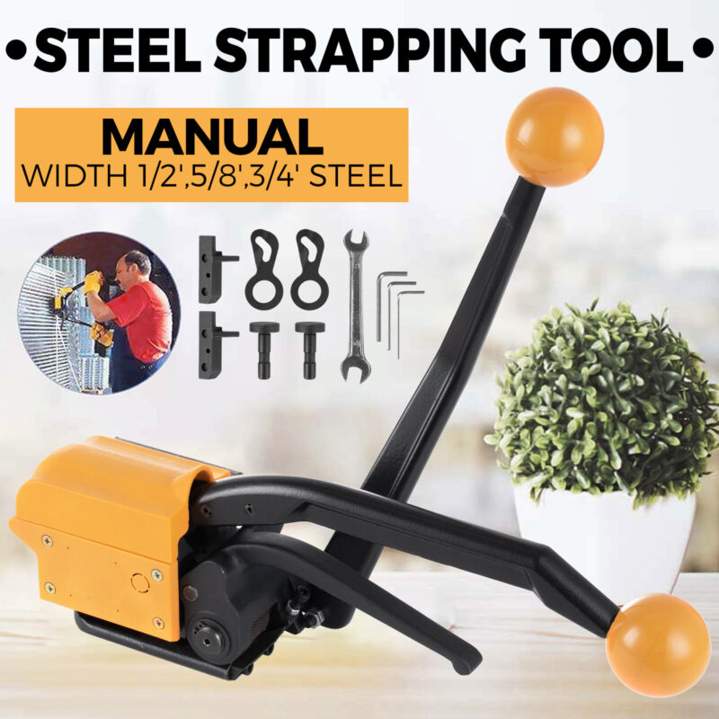 Manual Steel Strapping Tool A333 Banding Strap Sealless Combination Steel Straps