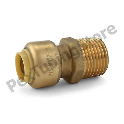 25 38 Sharkbite Style Push-fit X 12 Mnpt Lf Brass Male Threaded Adapters