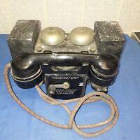 TELEFONO TELCER A ROTORE BACHELITE COLOR ROSSO /'80 funzionante WORKING TELEPHONE