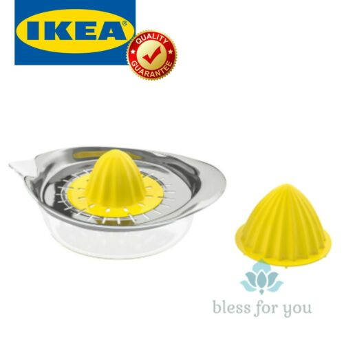 IKEA SPRITTA Citrus Squeezer Clear Yellow Stainless Steel