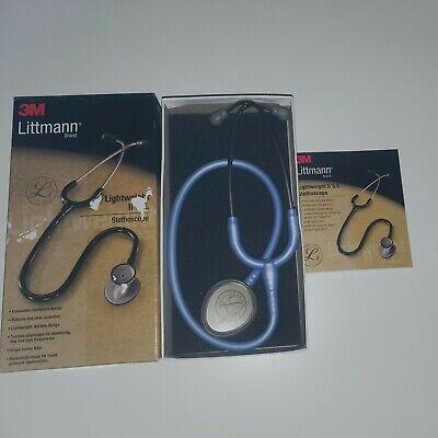3m Littmann Lightweight Ii Se Nurses Stethoscope Ceil Blue 28 Tube 2454