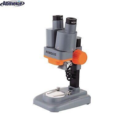 40x Stereo Binoculars Microscope For Pcb Repairing Soldering Tool Led Lamp