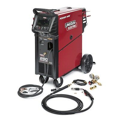 Lincoln Power Mig 260 Welder 208-575v K3520-1
