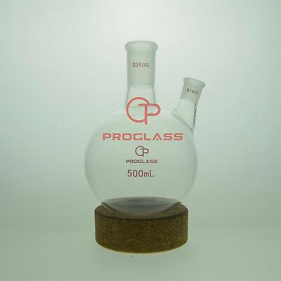 Proglass 2 Necks Round Bottom Boiling Flask 500mlcenter 2440side 1420