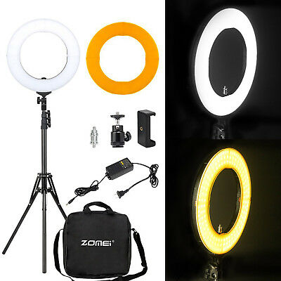 Led Ring (LED Ring Light with Stand Dimmable LED Lighting Kit Makeup Live for Phone)