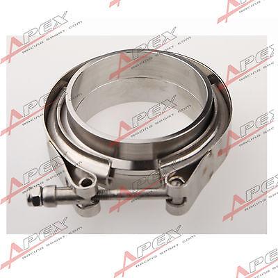 """Downpipe Intercooler Turbo 3"""" V-BAND CLAMP & FLANGE KIT Mild Steel V Band Flange"""