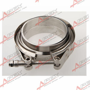 Downpipe-Intercooler-Turbo-3-034-V-BAND-CLAMP-amp-FLANGE-KIT-Mild-Steel-V-Band-Flange