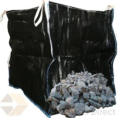 50 x 1 Ton BLACK Bulk Bag Builders Rubble Sack Tonne Jumbo Waste Storage NEW