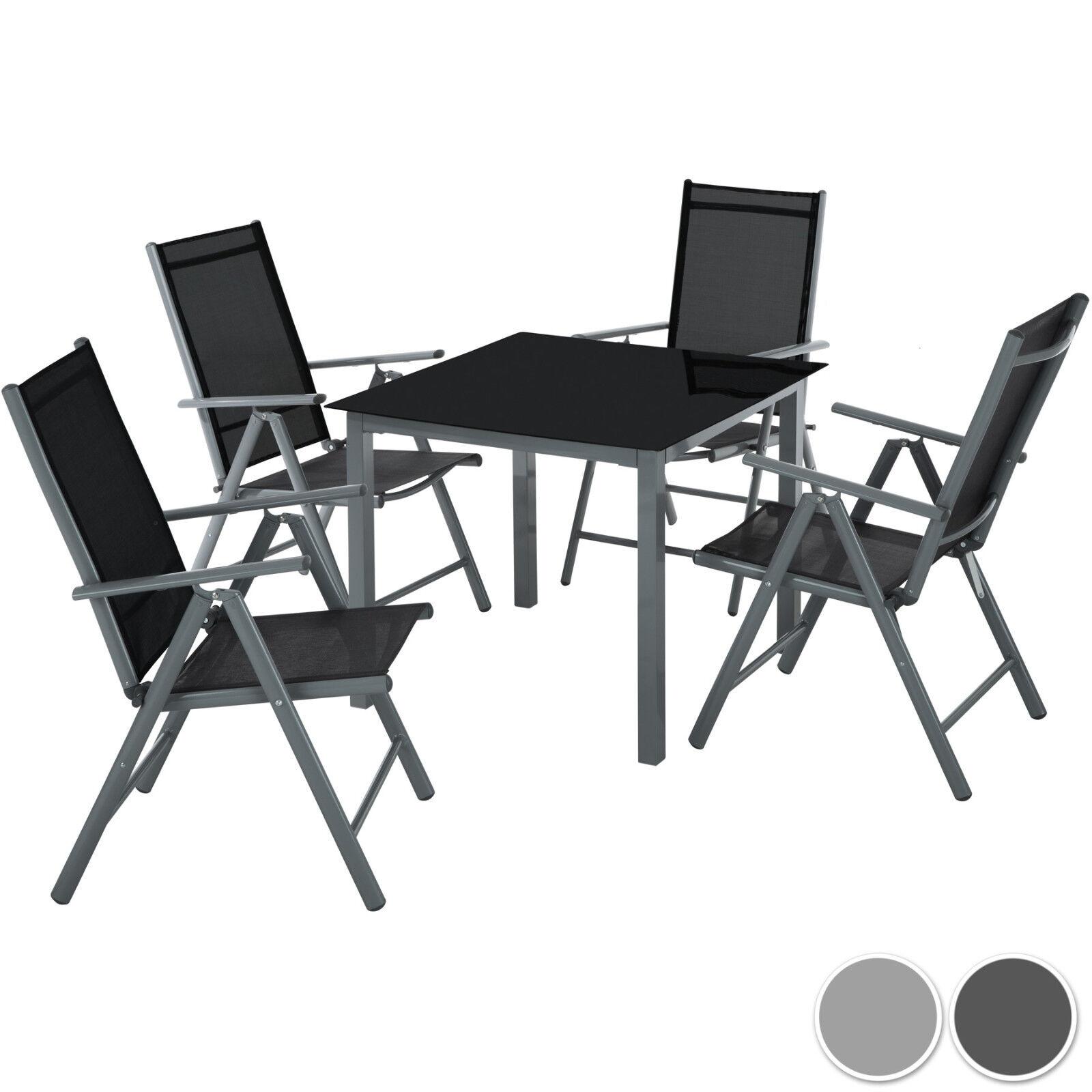 4+1 Alu Sitzgruppe Gartenmöbel Gartengarnitur Tisch Stuhl Essgruppe Gartenset