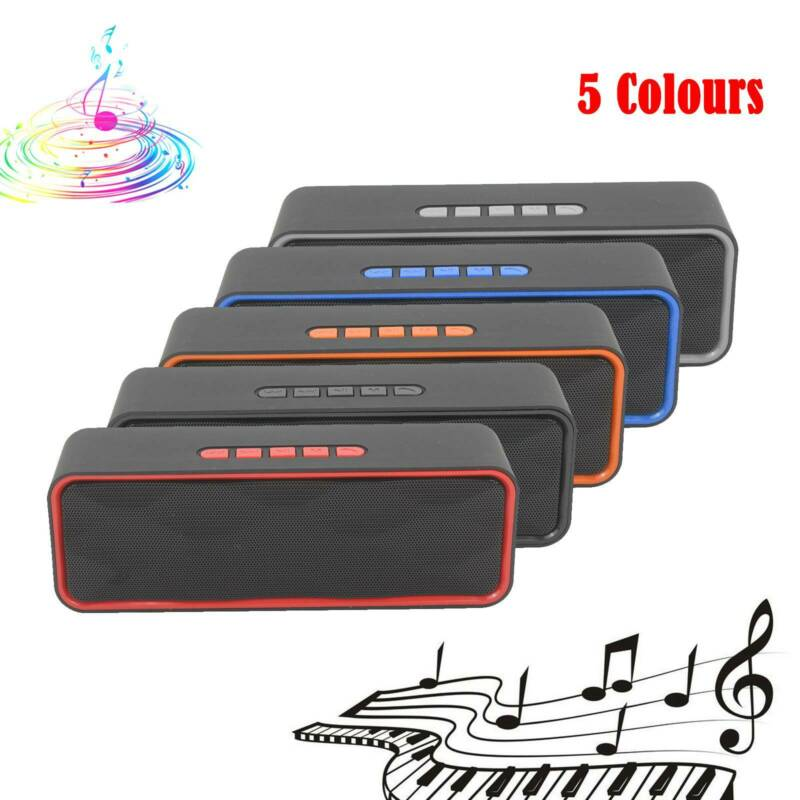 Multicolor Wireless Bluetooth Speaker High Bass Portable  Stereo Loudspeaker