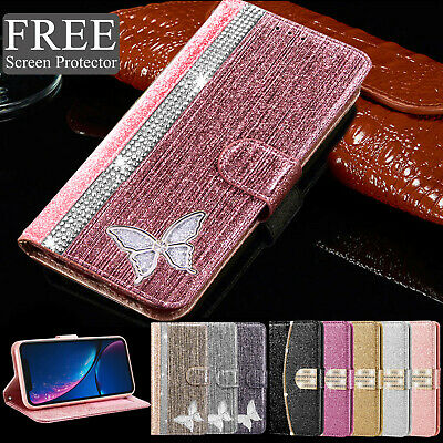 Luxury Bling Glitter Leather Flip Wallet Phone Case Cover for iPhone 11 6 7 8 XR