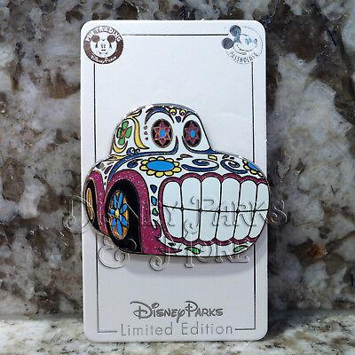 Disney California Adventure Halloween Dia de los Muertos Sugar Skull Car Pin