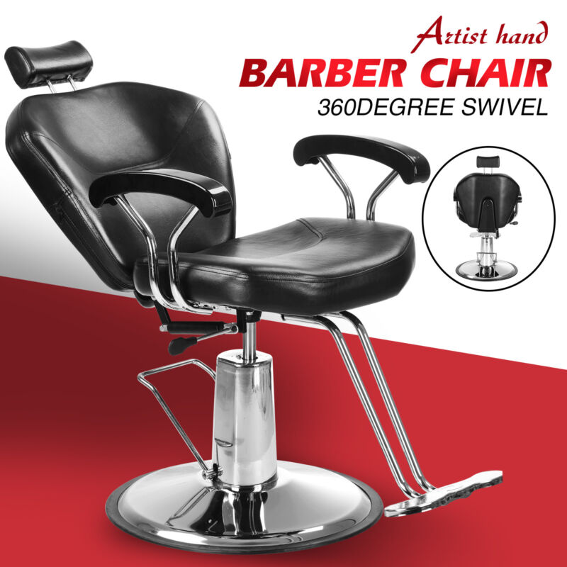 Reclining Hydraulic Barber Chair Styling Salon Beauty Shampoo Spa Equipment