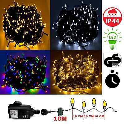 LED Lichterkette 10-400 Weihnachtsbeleuchtung Innen & Außen Garten Deko Trafo