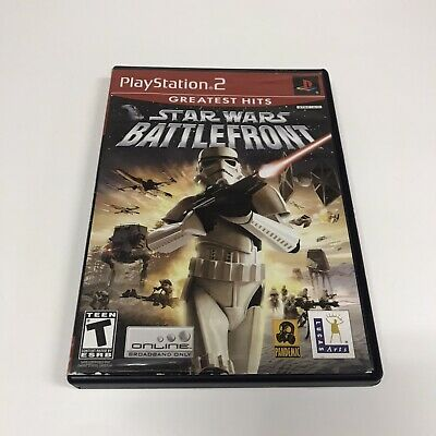 Star Wars: Battlefront PS2 (Sony PlayStation 2, 2004) Tested Complete Scratched