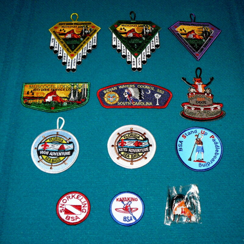 """Lot of : BOY SCOUTS """"Muscogee Lodge"""" CAMP BARSTOW : Dixie & Spring S. CAROLINA"""