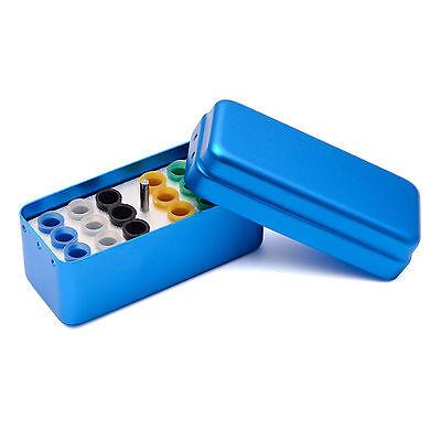 18 Holes Dental Aluminum Endo Box Gutta Percha Points Holder Case Blue