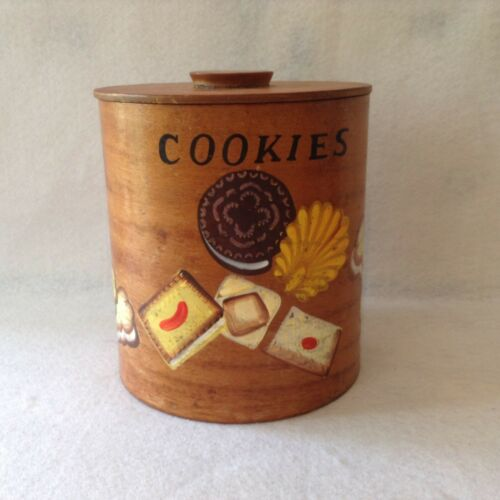 Vintage Bentwood Cookie Jar, Hand Painted