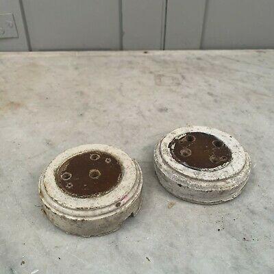 Pair of salvaged Victorian light switch mounts