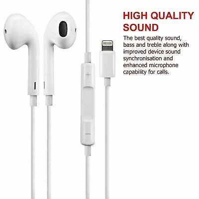 100% Genuine Lightning Headphones EarPhones Handsfree For iPhone 6 7 8 X XS Max