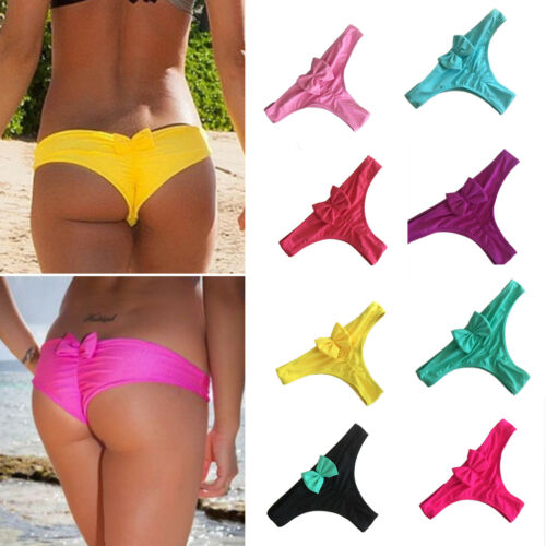 Sommer Damen Brazilian G-String Slip Bikini Tanga Strand String Bikinihose Sexy