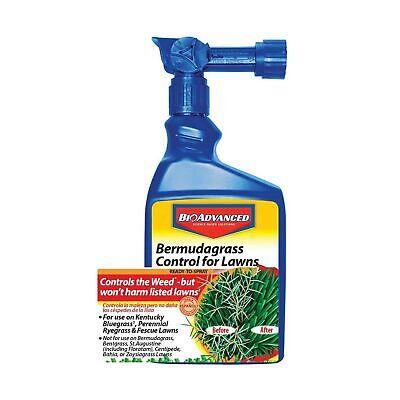 BioAdvanced Bermudagrass Control Lawns Weed Killer Ready-to-Spray 32 Oz bottle