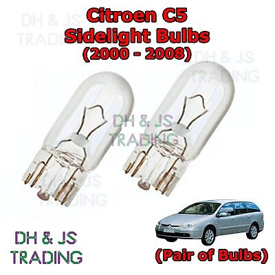 Peugeot 407 H1 501 100w Super White Xenon HID Low//LED Trade Side Light Bulbs Set