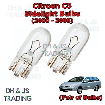 Peugeot 407 H1 501 100w Super White Xenon HID Low//LED Trade Side Light Bulbs Set