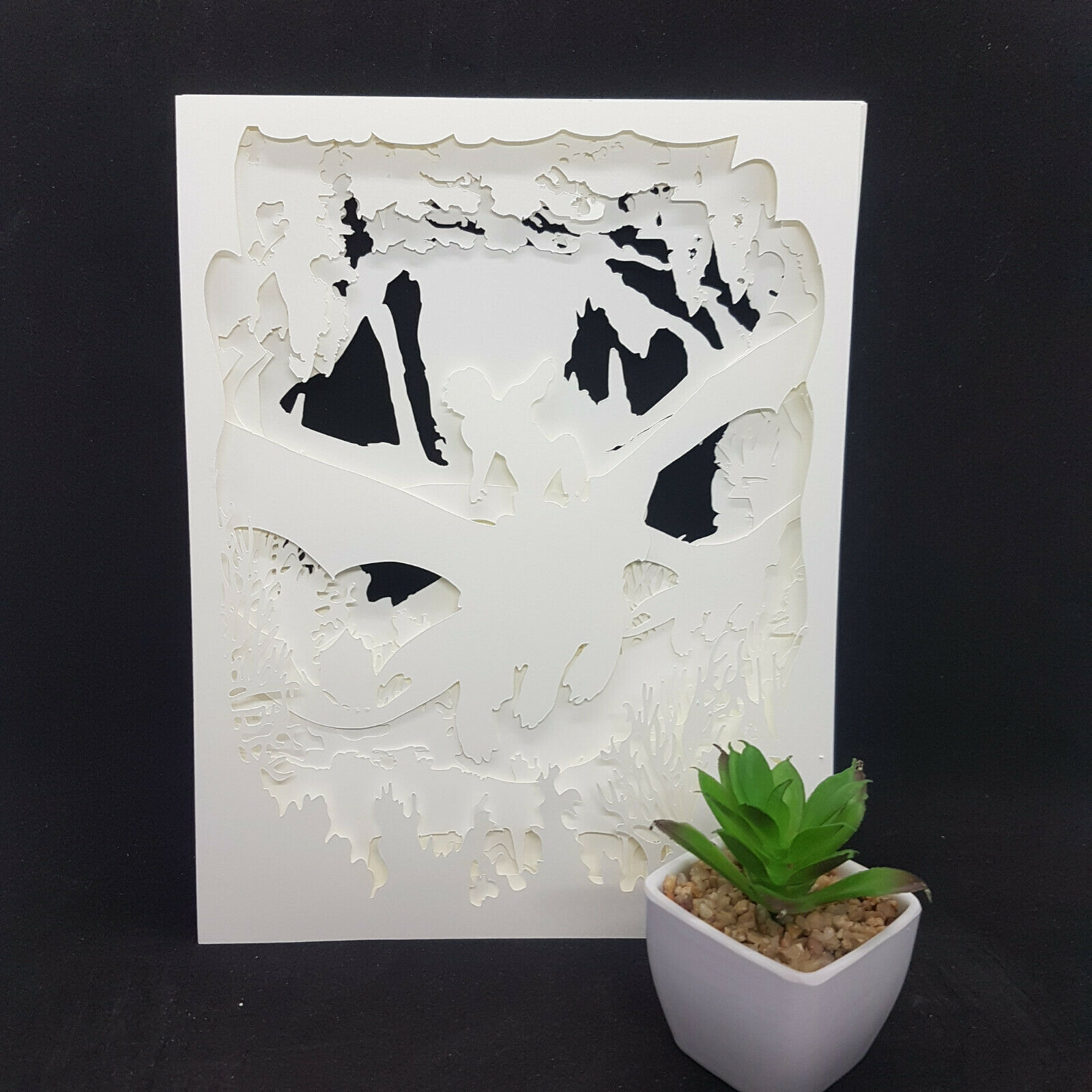 DRAGONS   inspired papercut shadow box, night light - DIGITAL TEMPLET PDF,SVG... 3