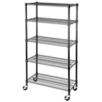 5 Tier 60x30x14 Shelving Rack Heavy Duty Layer Wire Steel Shelf Adjustable