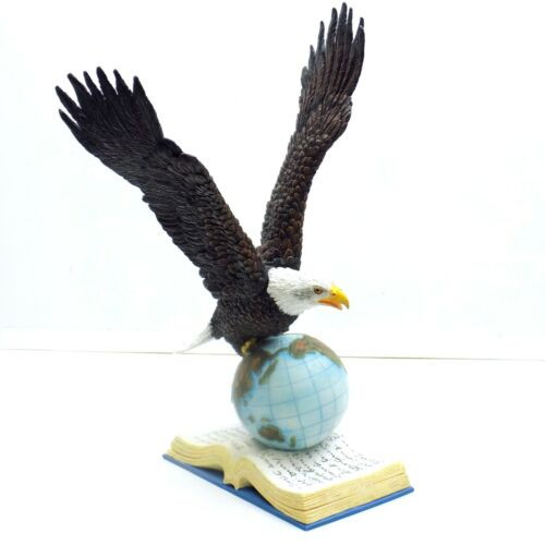 Bald Eagle Statue Globe Book Montefiori Collection 14""