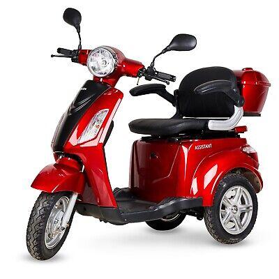 Silla de ruedas patinete electrico triciclo minusvalido scooter color rojo