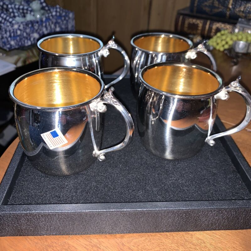 12 Vintage F. B. Rogers Silver Plate Punch Cups New Old Stock 🇺🇸