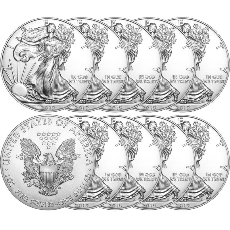 2019 Silver American Eagle BU 10pc