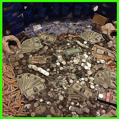 Estate Lot Old Us Coins   Gold  999 Silver Bars Bullion  Money Hoard Pcgs Sale