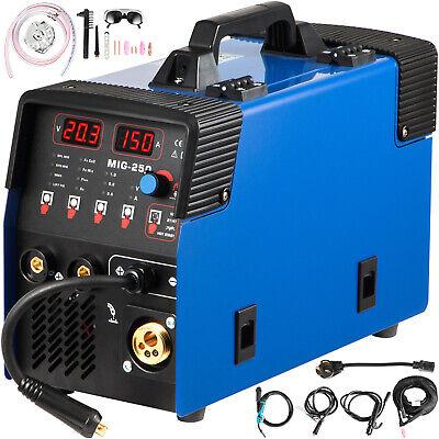 Vevor Mig Welder Welding Machine 250a Flux Core 3 In 1 Mmamiglift Tig Welder