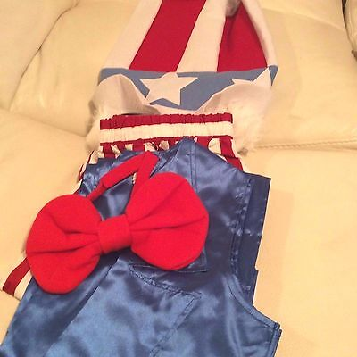 Pottery Barn Kids Uncle Sam USA Halloween Costume Sz Large Adult NWT!