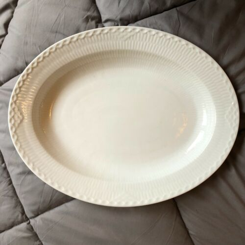 "Royal Copenhagen White Half Lace 14"" Oval Platter"
