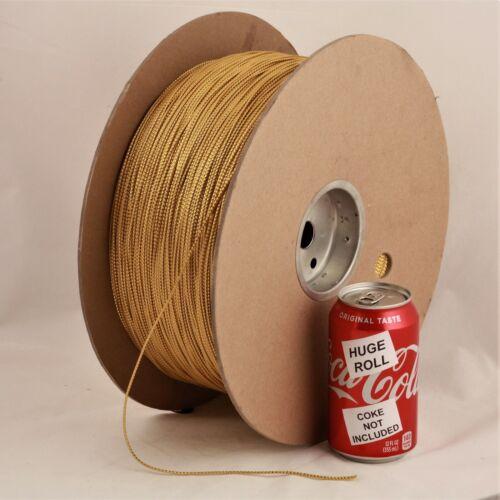 BULK LOT Gold Metallic #01 Needloft Nylon Craft Cord - 4,500 feet! USA