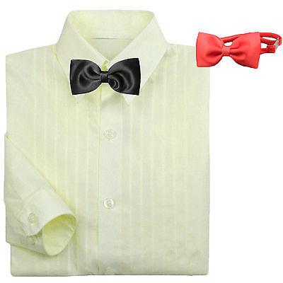 Classic Baby Boy Formal Tuxedo Suit Ivory Dress Shirt Red Black Bow tie  - Boys Classic Tuxedo Suit