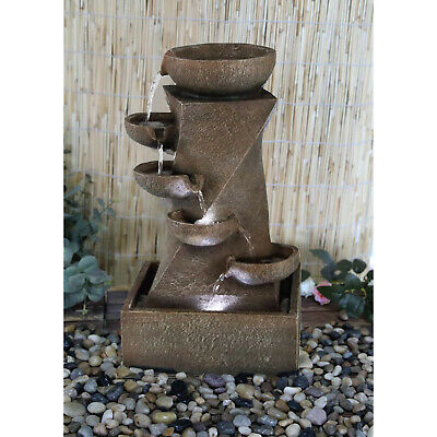 Indoor/ Outdoor LED Water Fountain Cascading Garden Feature Statue with Lights