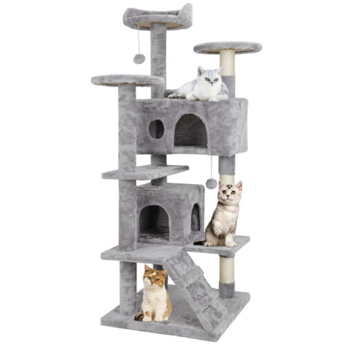 52″ Cat Tree Tower Activity Center Large Playing Condo Scratching Rest & Sleep Cat Supplies