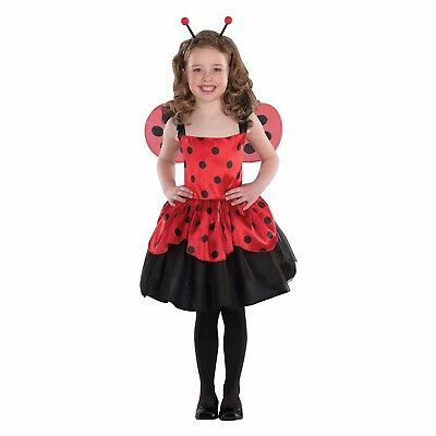 Ladybug Halloween Costumes (Totally Ghoul Girl's Ladybug Halloween Costume Child Medium No Headband)