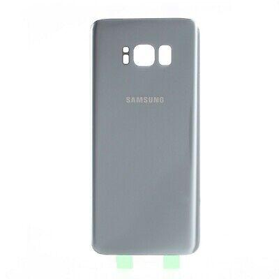 Tapa trasera de bateria cristal trasero para Samsung Galaxy S8 G950F Plata