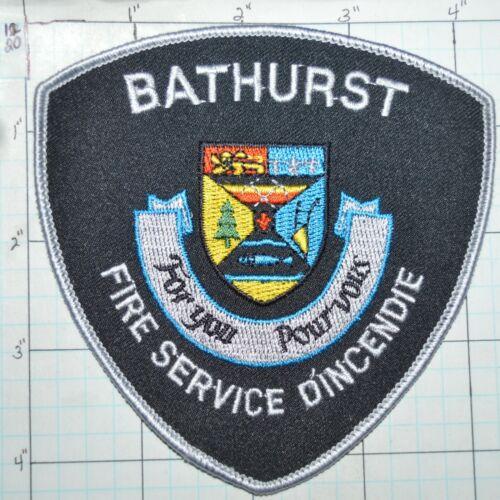 CANADA, BATHURST FIRE SERVICE D