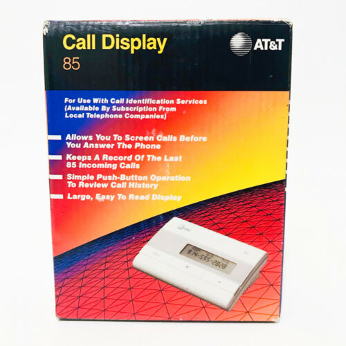 AT&T Call Display 85 - 1991 Caller ID - Good Used Condition - Org. Box & Manual