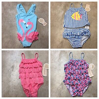 girls newborn toddler infant bathing suit 2 piece bikini 1 swim outfit 12-18 2 Girls 1 Bath