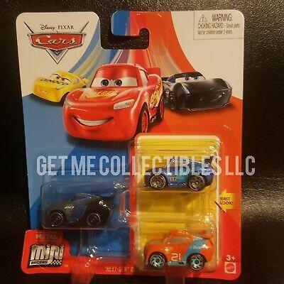 DISNEY PIXAR CARS MINI RACERS RYAN INSIDE LANEY RALPH CARLOW 3 PACK SHIP $15+